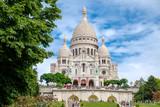 Fototapeta Paryż - The Basilica of the Sacre Coeur in Montmartre, Paris