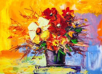 Plakat Oil painting flowers