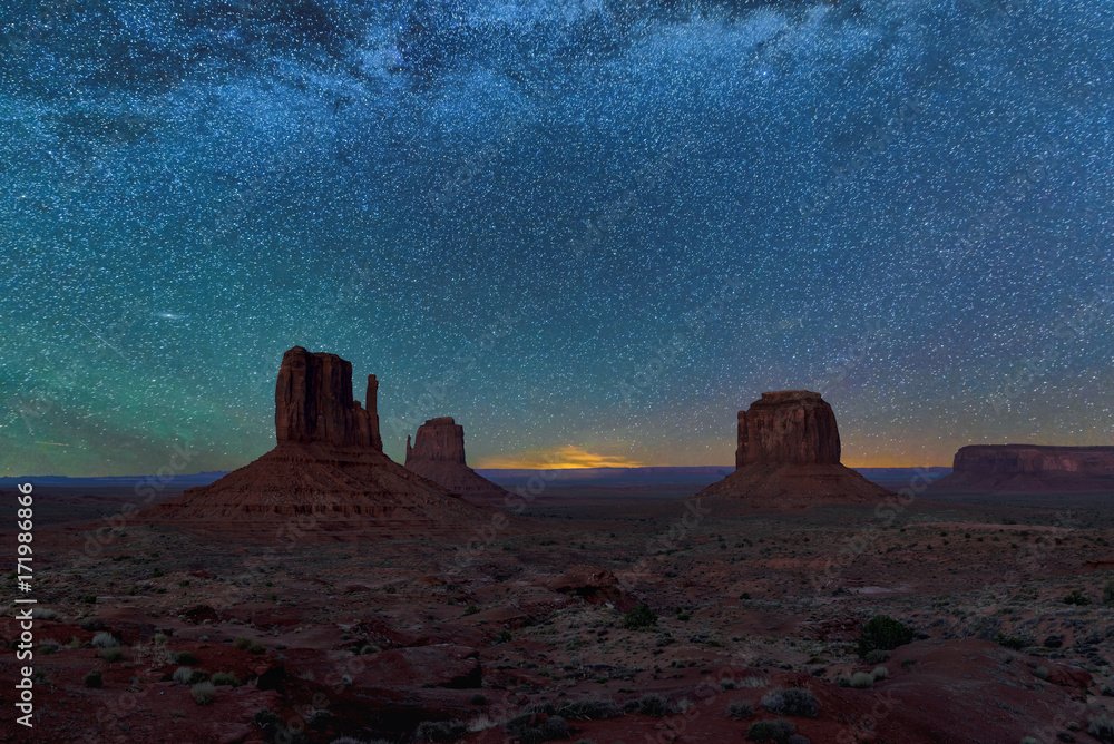 Night view at Monument Valley,  Arizona,USA