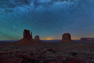 Night view at Monument Valley, Arizona,USA