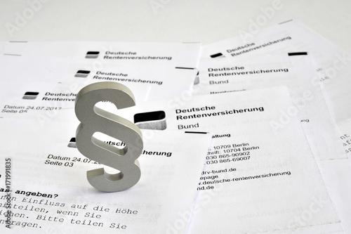 Deutsche Rentenversicherung, Paragraph, Rente, Altersversorgung, Pension, Gesetz Wallpaper Mural