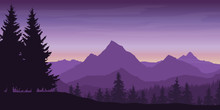Panoramic View Of Mountain Lan...