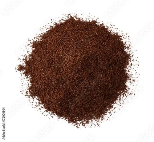 Top view of roast ground coffee Fototapeta