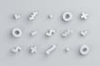 Leinwanddruck Bild - Abstract 3d rendering of geometric shapes. Modern background design for poster, cover, branding, banner, placard.