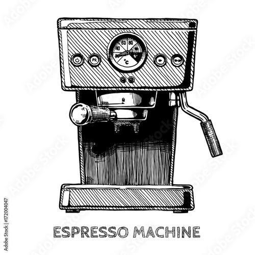 Fotografie, Obraz  illustration of coffee machine