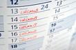 canvas print picture - Urlaub, Urlaubsplanung, Freizeit, Reise, Erholungsurlaub, Kalender, Arbeitsrecht, Tarifvertrag, Arbeitsvertrag, Ferien, Sabbatical