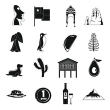 Cjile Travel Icons Set, Simple...