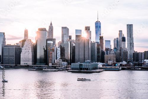 New York City Skyline at Sunset Canvas Print