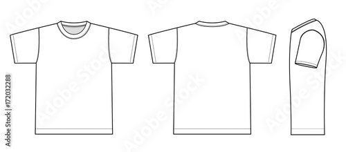 Obraz Tshirts illustration (white / side) - fototapety do salonu