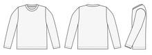 Longsleeve T-shirt Illustration (white / Side)