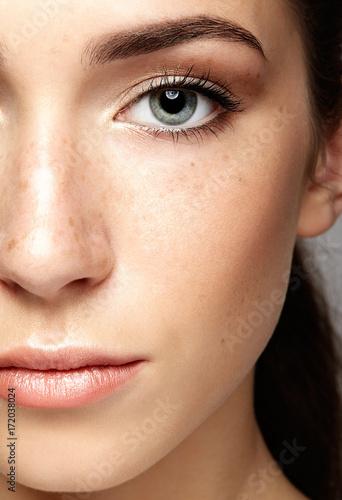 Fotografía  Closeup macro portrait of female face