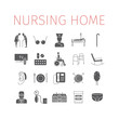 Nursing Home icon. Medical Care for The Elderly. Symbols of Older People Vector illustration.