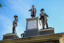 Confederate Monument With Jefferson Davis On The Texas Capitol Grounds In Austin Texas On Public Land.