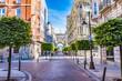 SANTANDER, SPAIN - JUNE 19, 2016: Street view of Santander city center, Spain.