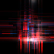 canvas print picture Abstract glitch style red luminous background