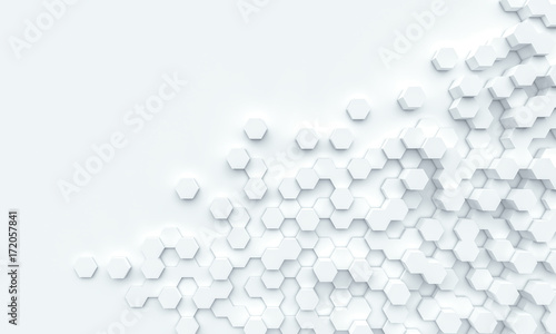 hexagonal geometric background © tiero
