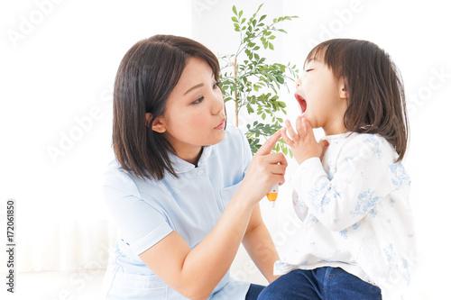 Stampa su Tela 歯科治療を受ける子供