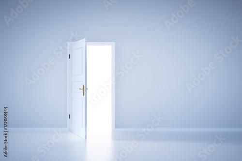 Photo  Light shining from open door. Entrance