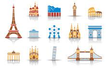 Wahrzeichen Von Europa - Iconset (Farbe)