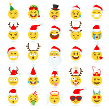 Christmas Emoticon Vector Emoji