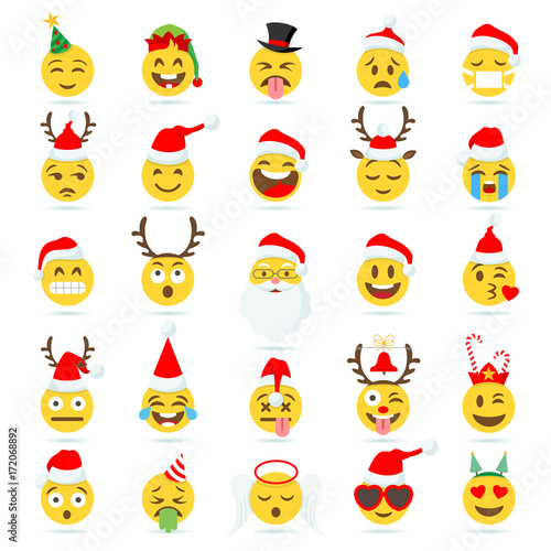 Christmas Emoticon vector emoji