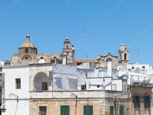 Staande foto Tunesië View of Ostuni cathedral and city center