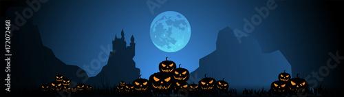 Fotografia, Obraz Halloween, zucche, zucca, paura, tutti i santi