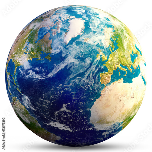 Fototapeta Planeta ziemia - renderowania 3d Atlantic