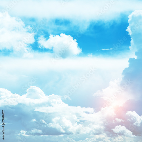 Foto auf Gartenposter Licht blau Sky colors air clouds
