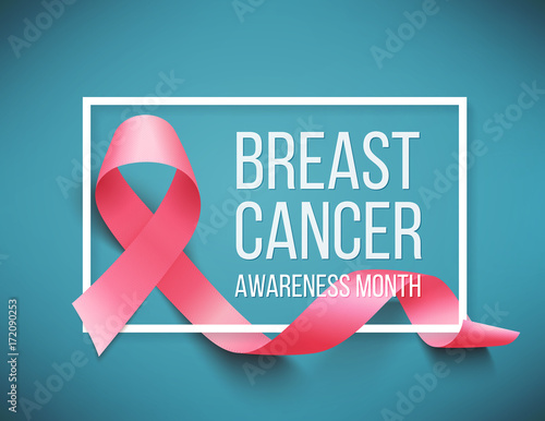 Breast cancer awareness Billede på lærred