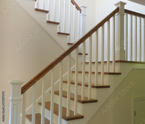 Photo Stands Stairs white staircase interior modern stair hardwood and painted style