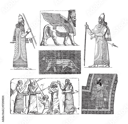Photo Babylonian and Assyrian art - vintage illustration