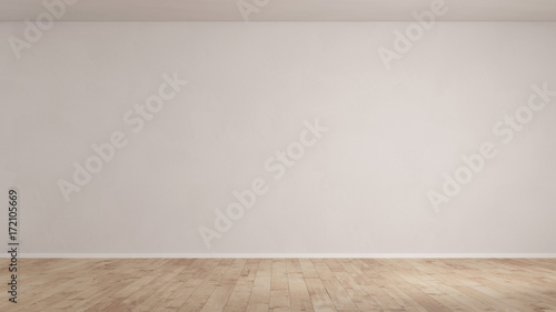Wand in einem leeren Raum mit Parkett Canvas-taulu