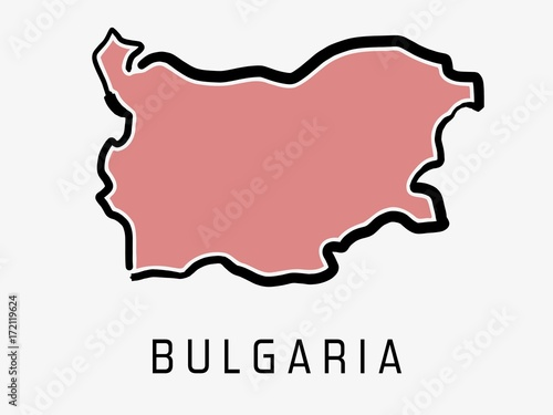 Bulgaria map outline Wallpaper Mural
