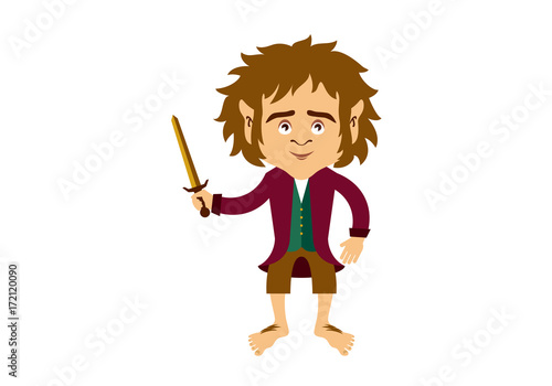 Photo  Hobbit cartoon character vector