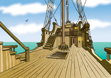 Boat Deck Background