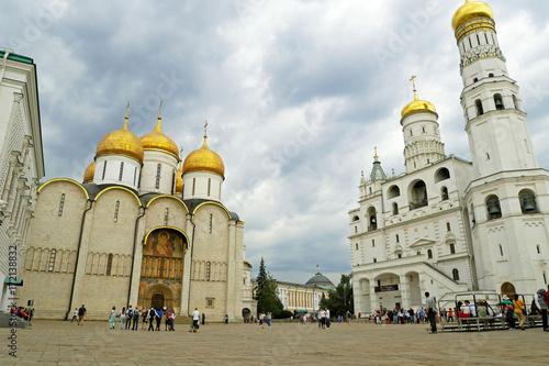 Plakat Katedralny kwadrat Moskwa Kremlin, Rosja.