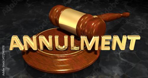 Photo Annulment Legal Gavel Concept 3D Illustration