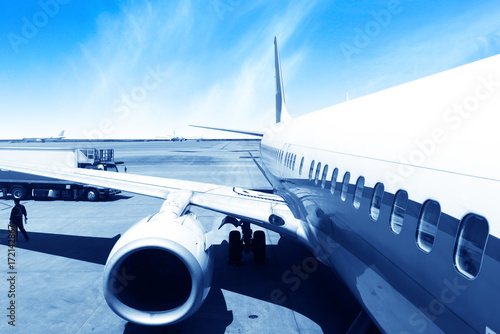 Fotografie, Obraz  Aircraft China Shanghai airport tarmac