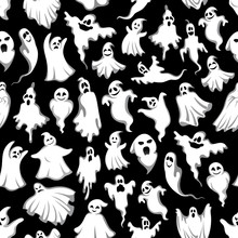 Halloween Spooky Ghost Vector ...
