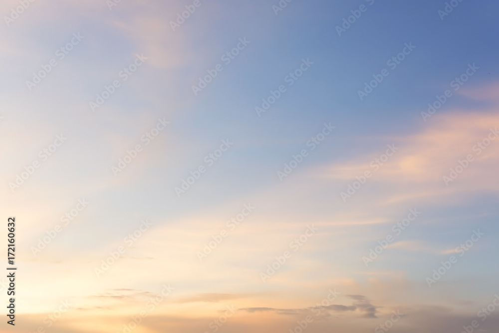 Fototapety, obrazy: Colorful sky at sunset for background