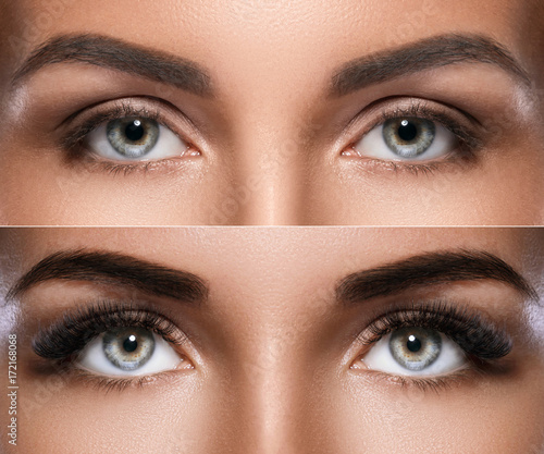 Microblading and eyelash extension