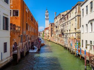 Fototapeta na wymiar Venice - Falling campanile in Venice
