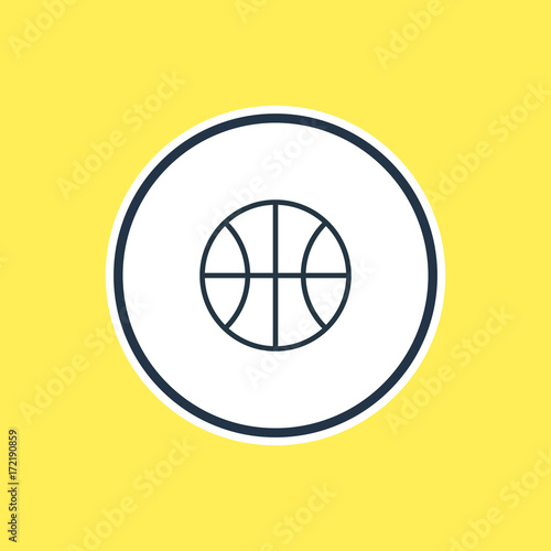 Vector Illustration Of Basketball Outline  Beautiful