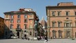 Tourist makes picture from the Statue of Cosimo I de' Medici, Florence, Italy
