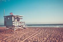 Lifeguard Cabin On Santa Monica Beach