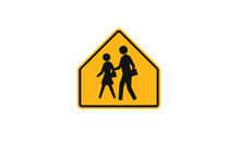 People Crossing Warning Sign A...