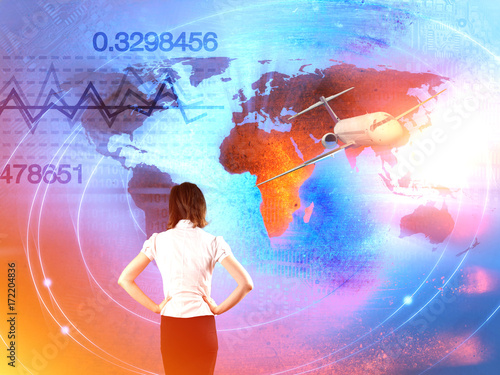 In de dag Kinderkamer World Business Background Trade Concept
