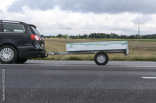 Fotografie, Obraz  car with trailer