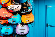 Multi Colored Mexican Guitars